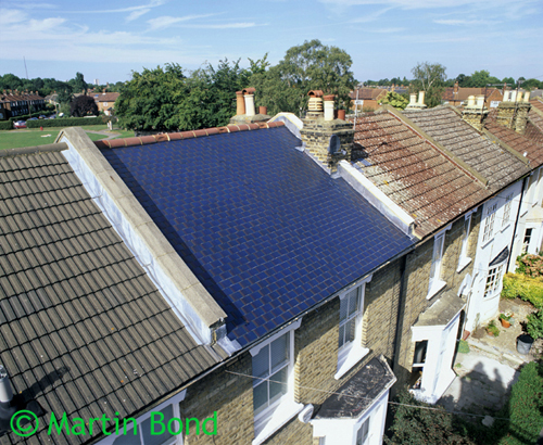 cells. Installed in place of ordinary roof tiles, they enable a roof ...